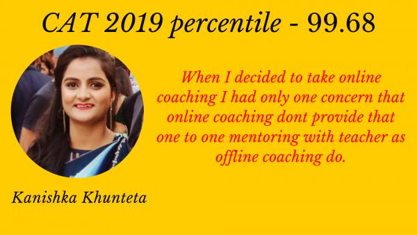 Preparation Journey with EG For CAT 2019 By Kanishka Khunteta | CAT Percentile – 99.68.