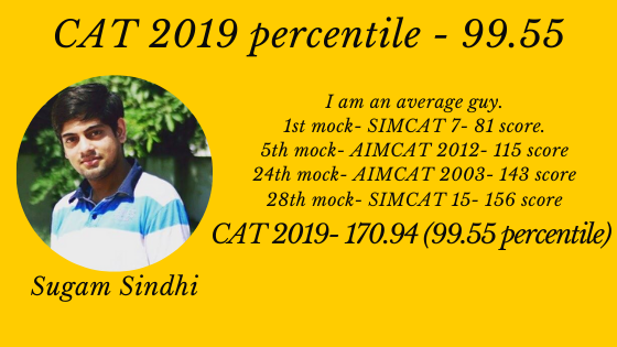 Can I crack CAT? I am an average student. Should I prepare for CAT 2020? Here's my journey & I got 99.55 in CAT 2019.