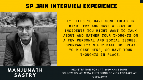 SPJIMR / SP JAIN Interview experience or admission process | Elites grid