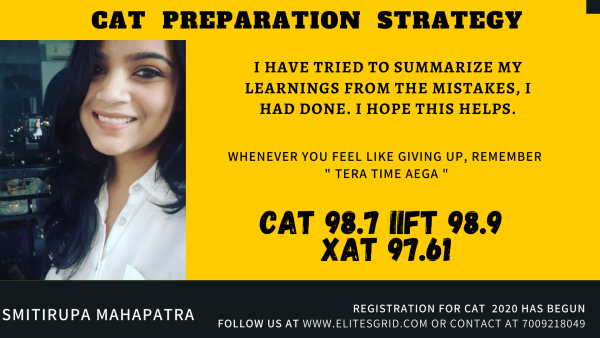 CAT preparation strategy by Smitirupa