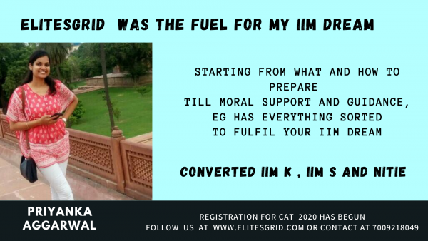 Joining Elitesgrid for CAT coaching was the fuel for my IIM dream
